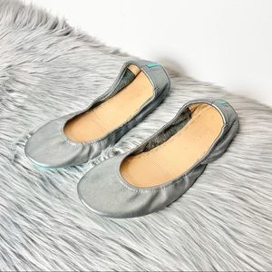 Tieks | Shimmering Metallic Pewter Flats 8